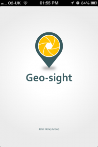 Geo-sight splash screen